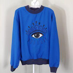 KENZO Eye Sweatshirt Blue Oversized